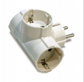 ADAPTADOR TRIPLE TT. LATERAL 16 AH. 250 V. 1307