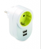 ADAPTADOR TT. LATERAL 16 AH. 250 V. 2 USB 1308